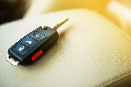 Schlüssel auf Sitz